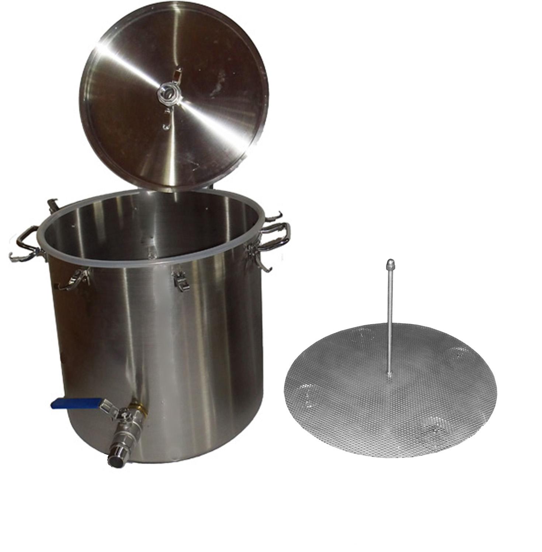 70 liter destillier kessel brennblase mit 1 auslaufhahn und maischekorb. Black Bedroom Furniture Sets. Home Design Ideas